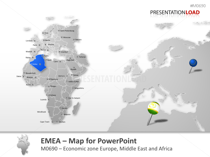 powerpoint map emea region presentationload