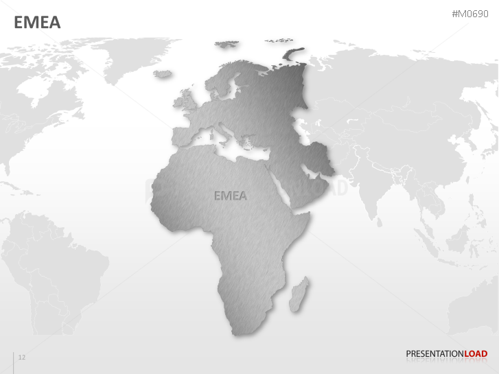 PowerPoint Map EMEA Region | PresentationLoad