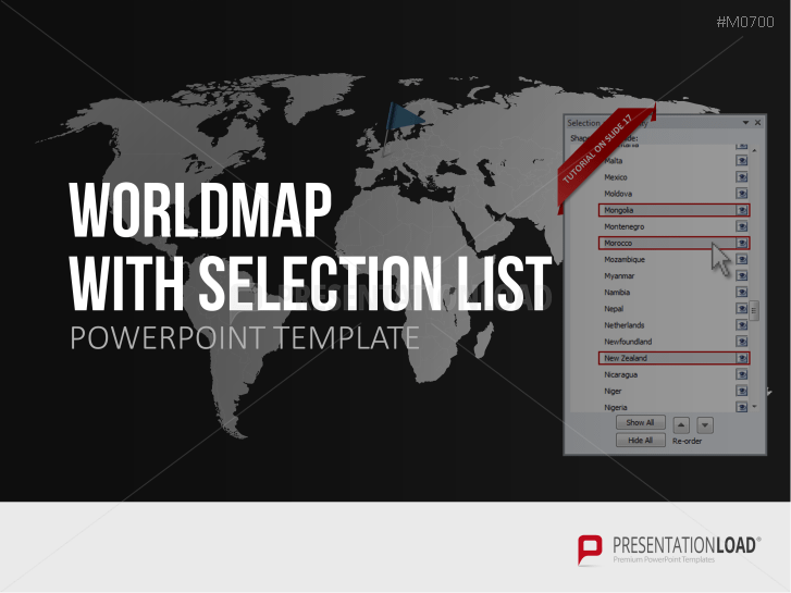 World map with selection list _https://www.presentationload.com/world-map-selection-list.html