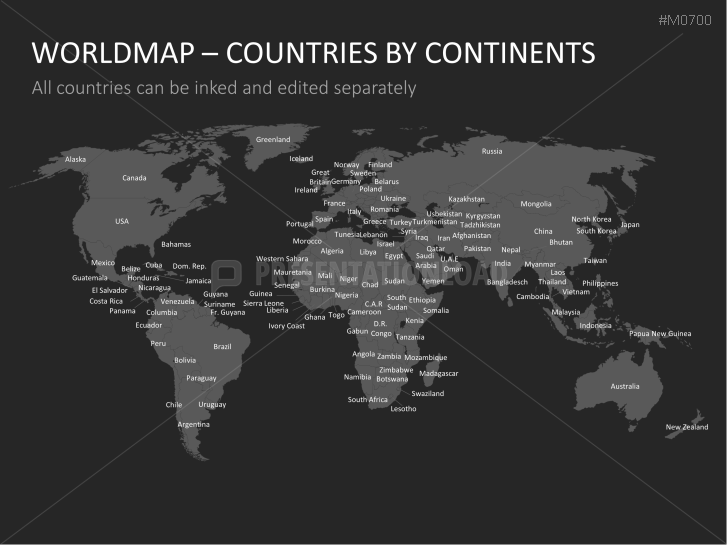 Powerpoint world map with selection list presentationload gumiabroncs Images