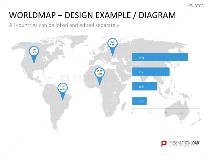 Powerpoint world map with selection list presentationload gumiabroncs Image collections