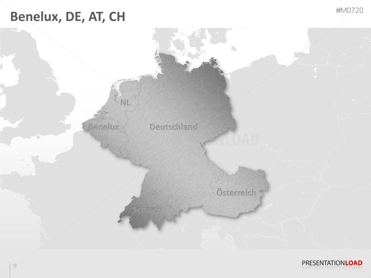 Karte Süddeutschland österreich Schweiz.Powerpoint Landkarte Benelux Dach Presentationload
