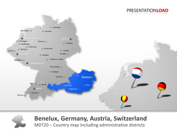 Benelux, Germany, Austria, Switzerland _https://www.presentationload.com/map-benelux-germany-austria-switzerland.html