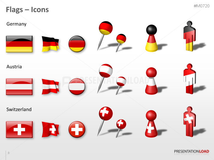 Map Of Germany Austria And Switzerland.Powerpoint Map Benelux Germany Austria Switzerland