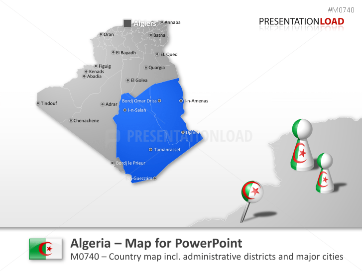 PowerPoint Map of Algeria | PresentationLoad on