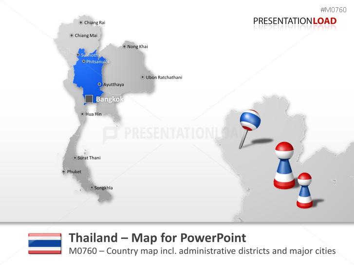 Thailand _https://www.presentationload.com/map-thailand.html