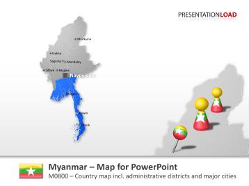 Myanmar _https://www.presentationload.com/map-myanmar.html