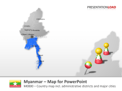 Myanmar _https://www.presentationload.com/map-myanmar.html
