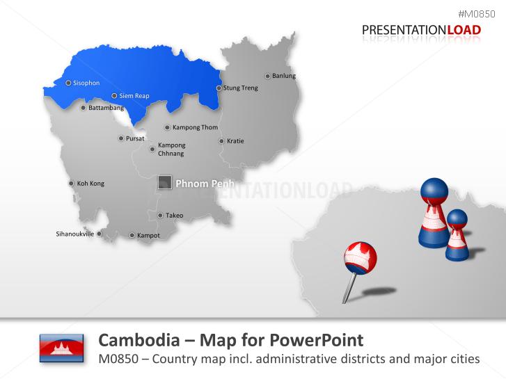 Cambodia _https://www.presentationload.com/map-cambodia.html