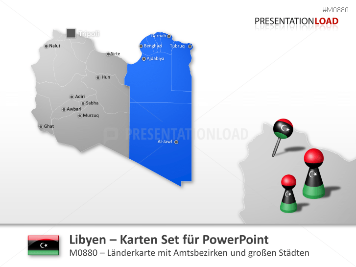 Libyen _https://www.presentationload.de/landkarte-libyen.html