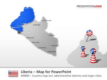 Liberia _https://www.presentationload.com/map-liberia.html