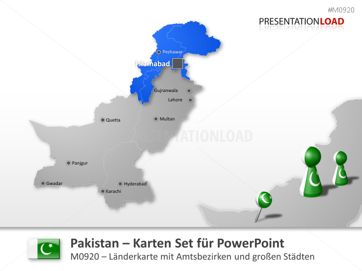 Pakistan _https://www.presentationload.de/landkarte-pakistan.html