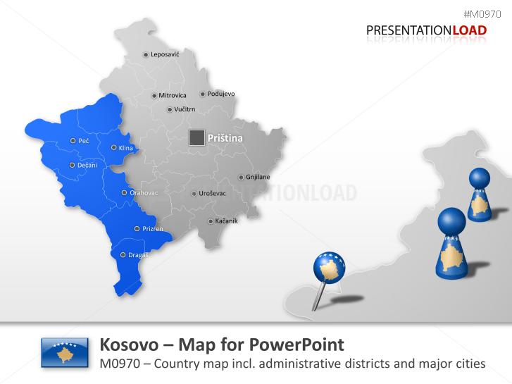 Kosovo _https://www.presentationload.com/map-kosovo.html