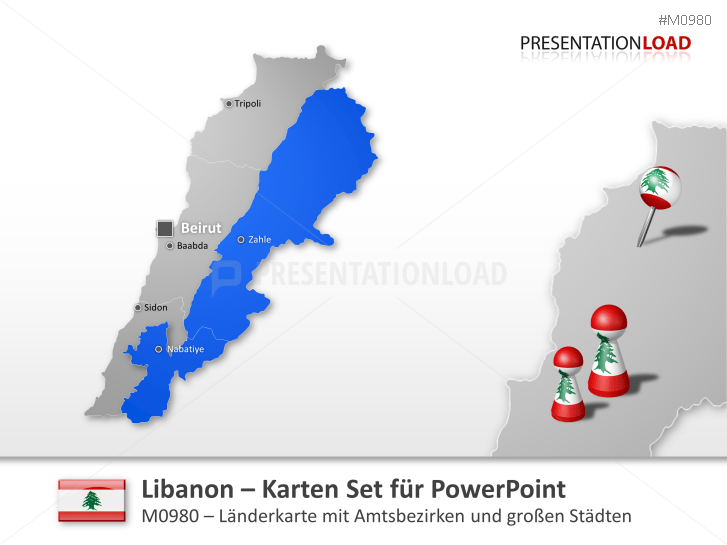 Libanon _https://www.presentationload.de/landkarte-libanon.html
