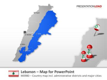Lebanon _https://www.presentationload.com/map-lebanon.html