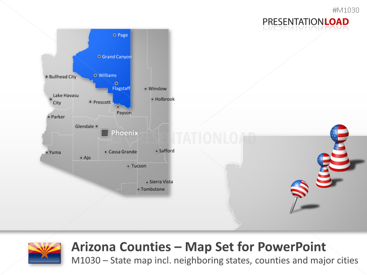Condados de Arizona _https://www.presentationload.es/arizona-counties.html