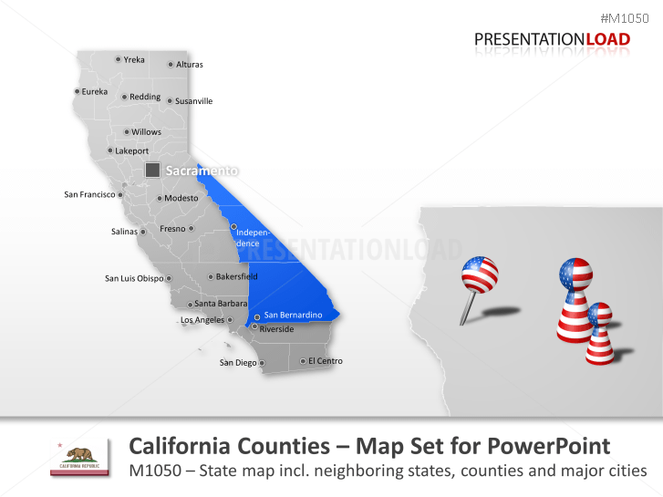 Comtés de Californie _https://www.presentationload.fr/california-counties.html