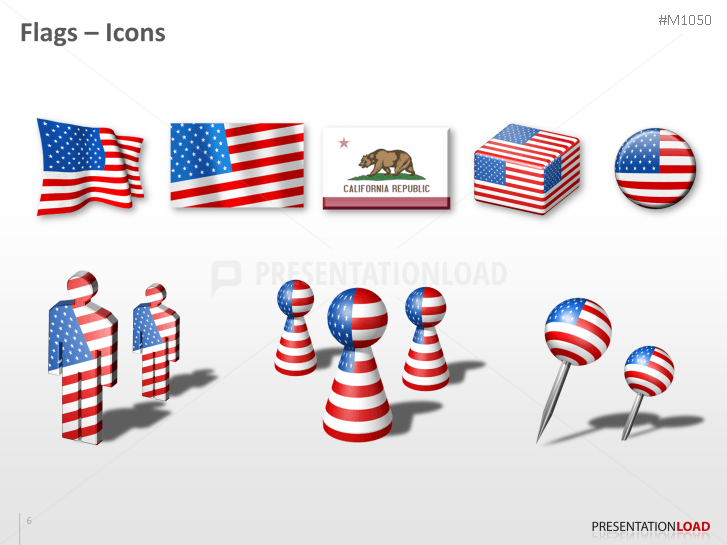 powerpoint map california counties usa presentationload
