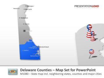 Delaware Counties _https://www.presentationload.com/map-delaware-counties.html