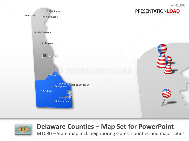 Delaware Counties _https://www.presentationload.com/map-delaware-counties.html