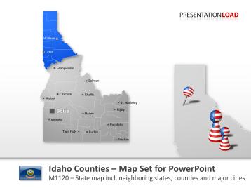 Idaho Counties _https://www.presentationload.com/map-idaho-counties.html