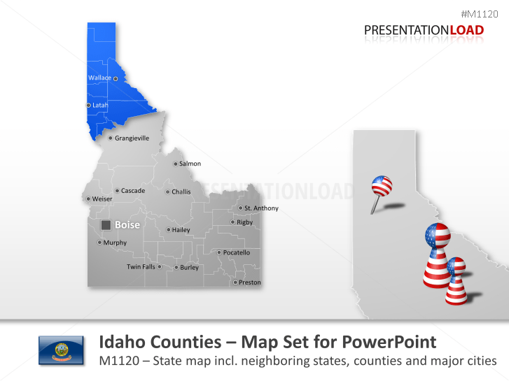 Comtés de l'Idaho _https://www.presentationload.fr/idaho-counties.html