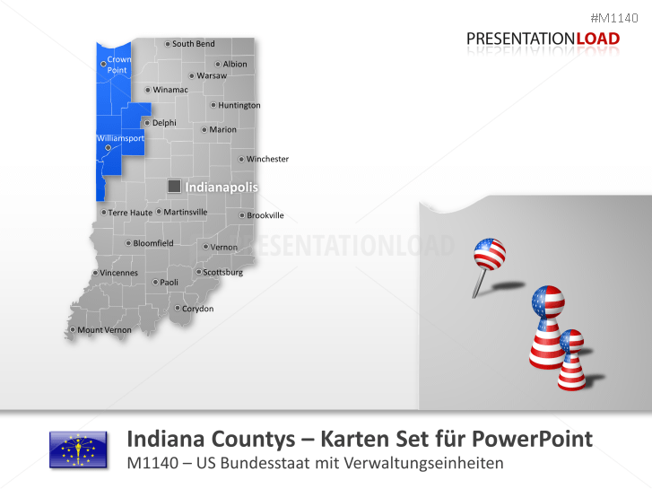 Indiana Counties _https://www.presentationload.de/landkarte-indiana-counties.html