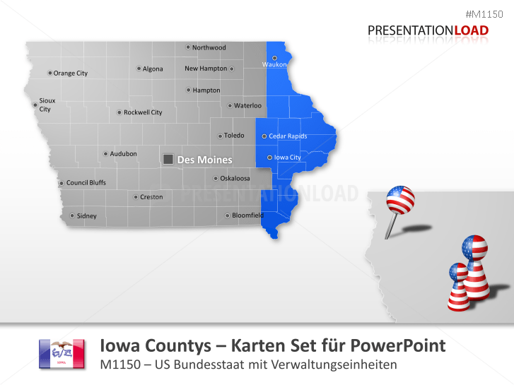 Iowa Counties _https://www.presentationload.de/landkarte-iowa-counties.html