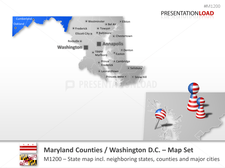 Condados de Maryland _https://www.presentationload.es/maryland-counties.html
