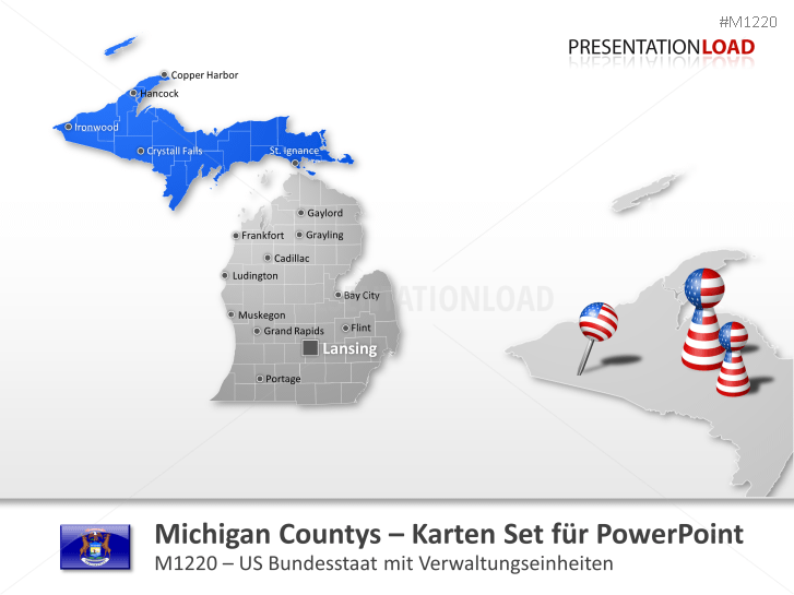 Michigan Counties _https://www.presentationload.de/landkarte-michigan-counties.html