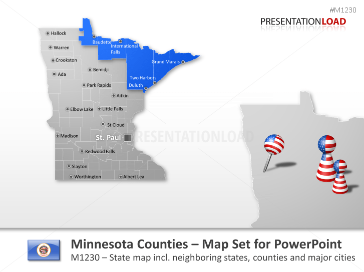 Condados de Minnesota _https://www.presentationload.es/minnesota-counties.html