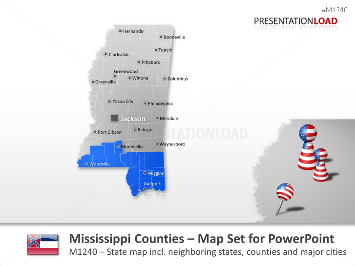 Comtés du Mississippi _https://www.presentationload.fr/mississippi-counties-1.html