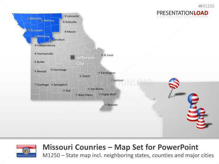 Comtés du Missouri _https://www.presentationload.fr/missouri-counties.html
