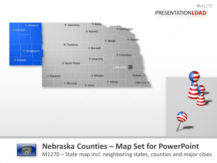 Comtés du Nebraska _https://www.presentationload.fr/nebraska-counties.html