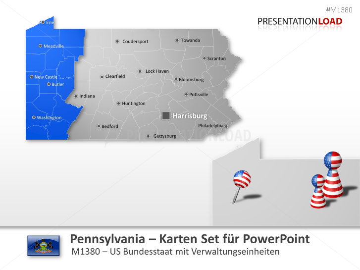 Pennsylvania Counties _https://www.presentationload.de/landkarte-pennsylvania-counties.html