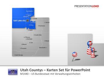 Utah Counties _https://www.presentationload.de/landkarte-utah-counties.html