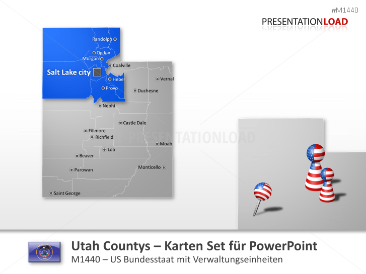 Utah Counties _https://www.presentationload.de/landkarte-utah-counties.html