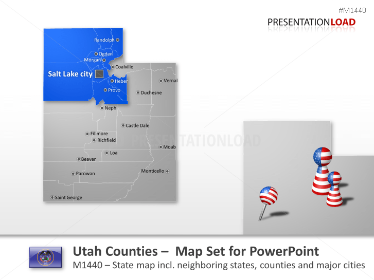Utah Counties _https://www.presentationload.com/map-utah-counties.html
