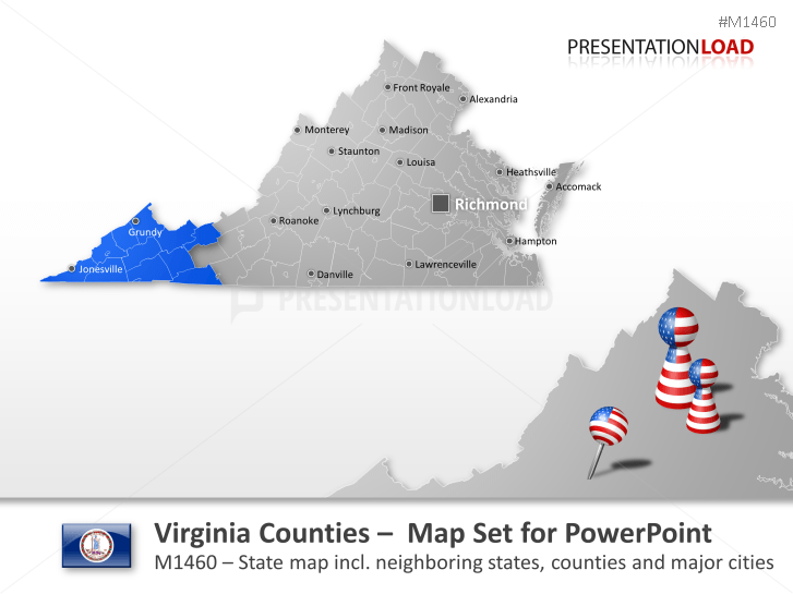 Virginia Counties _https://www.presentationload.com/map-virginia-counties.html