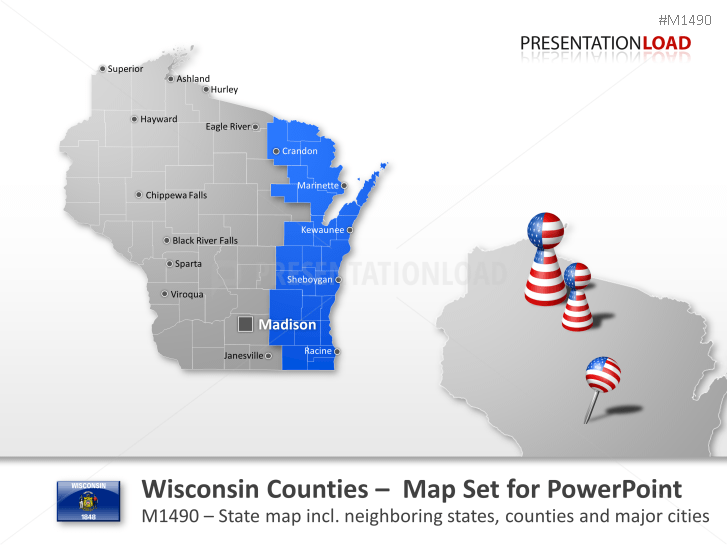 Wisconsin Counties _https://www.presentationload.com/map-wisconsin-counties.html