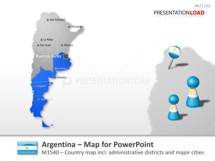 PowerPoint Map of Argentina PresentationLoad