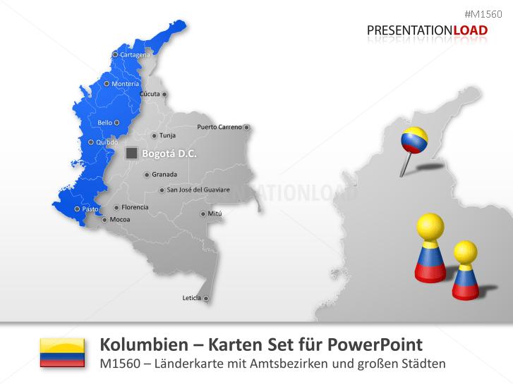 Kolumbien _http://www.presentationload.de/landkarte-kolumbien.html
