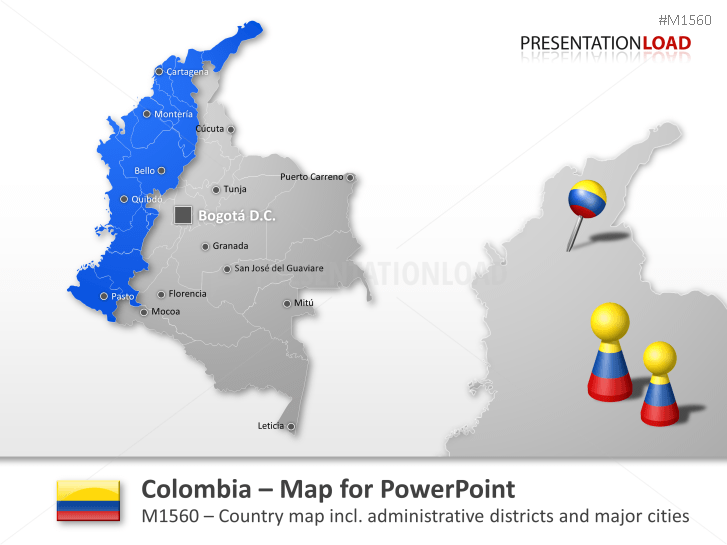 Colombia _https://www.presentationload.com/map-colombia.html