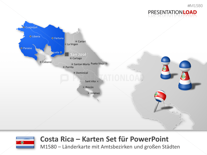 Costa Rica _http://www.presentationload.de/landkarte-costa-rica.html