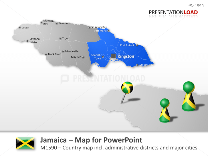 Jamaica _https://www.presentationload.com/map-jamaica.html