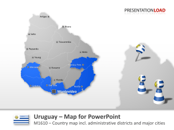 Uruguay _https://www.presentationload.com/map-uruguay.html