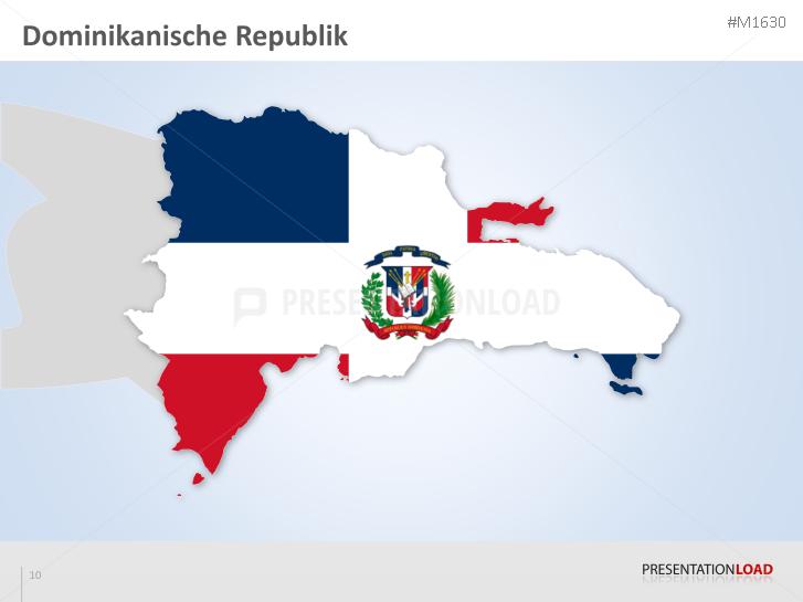 Powerpoint Landkarte Dominikanische Republik Presentationload