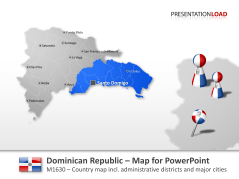 República Dominicana _https://www.presentationload.es/map-donimican-republic-1.html
