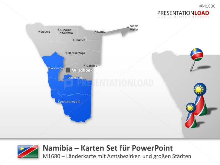 Namibia _https://www.presentationload.de/landkarte-namibia.html