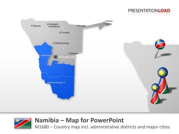 Namibia _https://www.presentationload.com/map-namibia.html